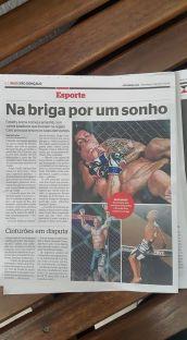 Foto no Jornal Impresso Extra - Foto do Fatality Arena