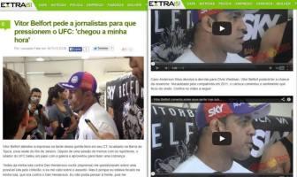 Vídeo de coletiva com Vitor Belfort-Extra Online