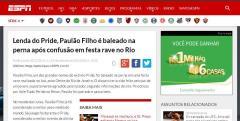 Site internacional Espn Espanhol - matéria exclusiva sobre Paulão Filho.