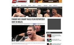 Site internacional Mma Weenkley - matéria exclusiva sobre Paulão Filho.