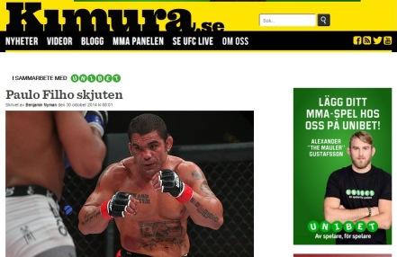 Site internacional Kimura ( Russia ) - matéria exclusiva sobre Paulão Filho.