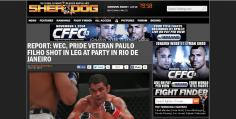 Site internacional Sherdog - matéria exclusiva sobre Paulão Filho.