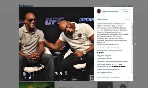 Nossa foto da coletiva de Anderson Silva postada no Instagram do atleta.