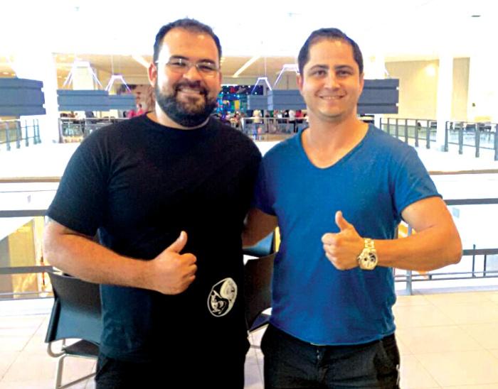 Adriano Silva (CEO Brothers Shark) e Danúbio Martins (CEO Premium Paulínia)  / Foto: Divulgação