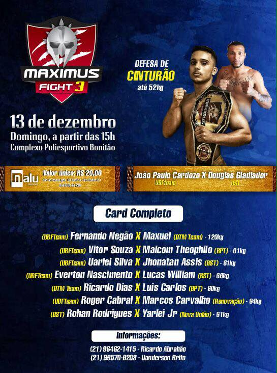 CARTAZ - MAXIMUS FIGHT 3