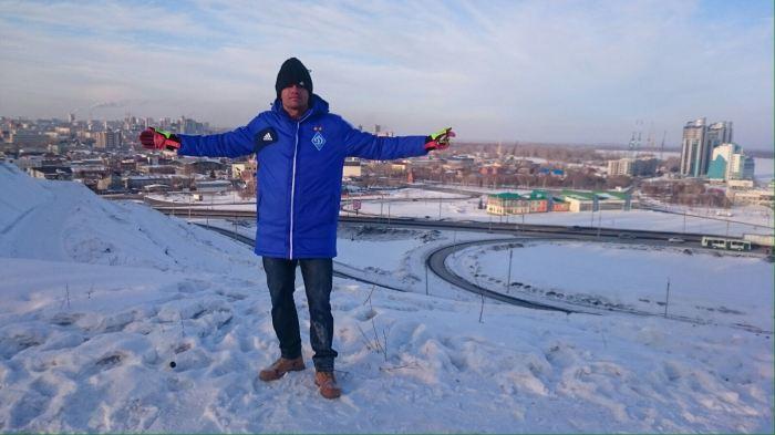 Sergio Kreator esta passando uma temporada na Sibéria, Rússia