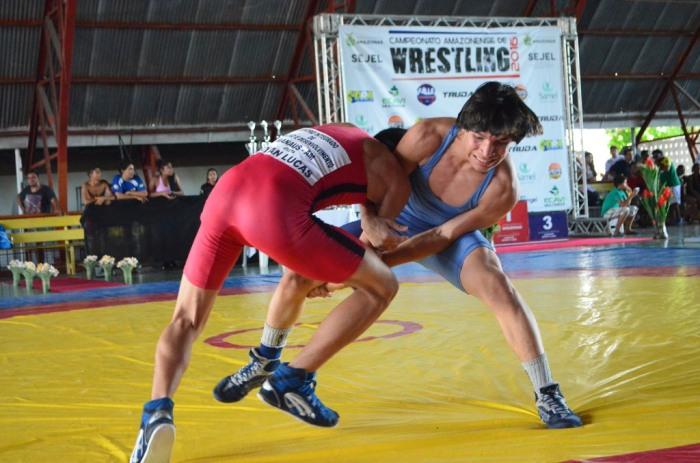 Wrestling - Anderson Silva de azul - campeão no cadete masculino até 50 kg - by Emanuel Mendes Siqueira