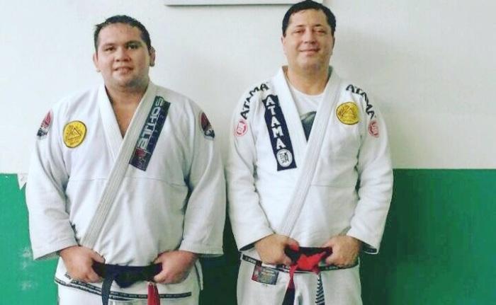 Heberson Belchior da Gracie  Humaitá Manaus -Flores e o mestre Rolker Gracie