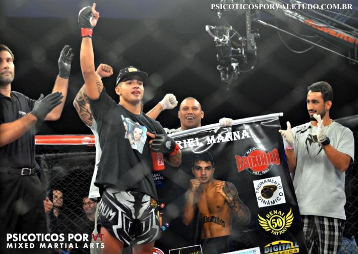 Gabriel Manna venceu sua ultima luta no Shooto Brasil