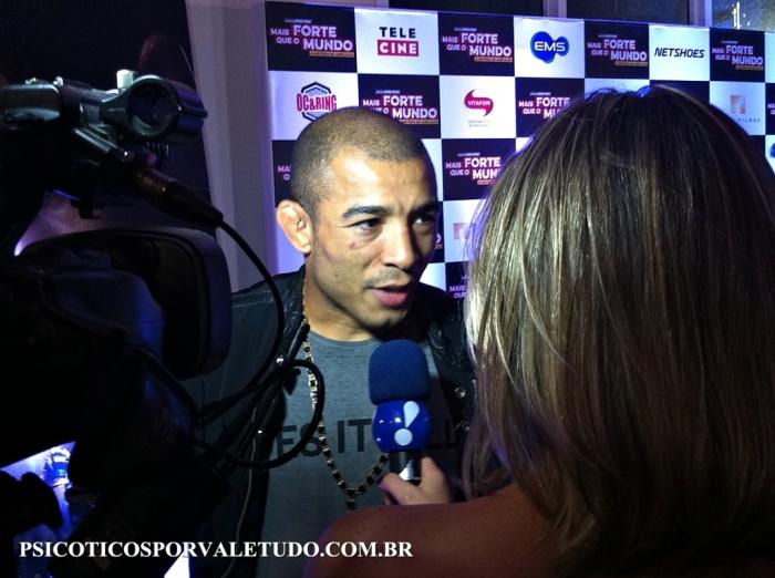 Lançamento do filme de José Aldo aconteceu no Rio de Janeiro nesta quarta feira.