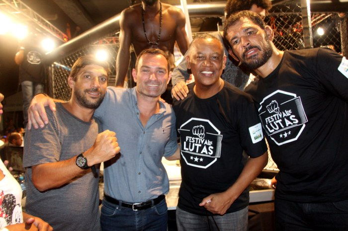Daniel Quiroga, Giovani Decker, Celso Athayde e Rodrigo Minotauro