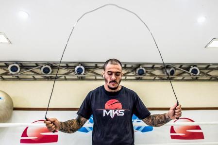Após dois anos parado, Emerson Falcão retorna ao WGP Kickboxing.Alexandre Loureiro/Inovafoto