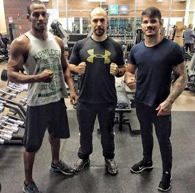 Eloy hoje é parceiro de treinos do atleta do UFC Erick Silva. Foto: Arquivo pessoal do atleta