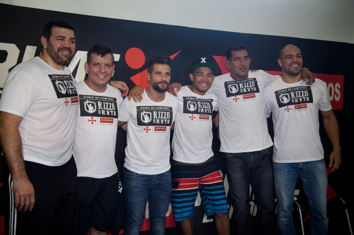 Lendas do MMA estiveram presentes no evento te relancamento do projeto. Foto: Divulgação