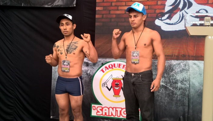 MMA - Daboberto Jungle Boy - à direita - na pesagem - Divulgação