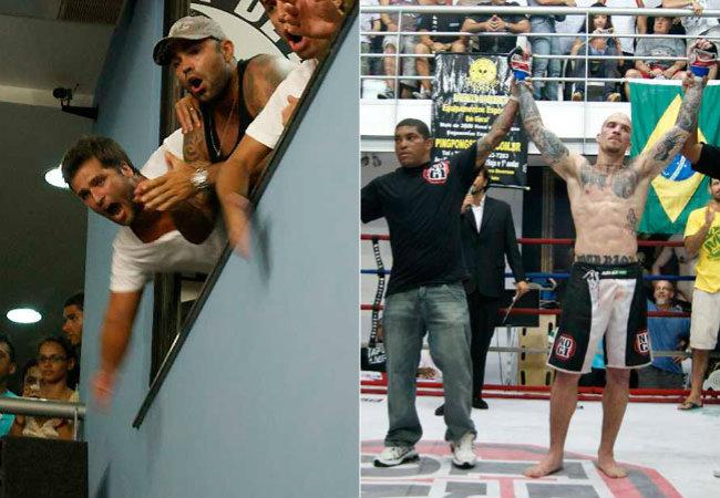 Bruno torcendo pelo amigo Gabriel Monkey.Foto da Psicóticos por VT publicada na Revista Quem online e na Ego.( 31-01-11)