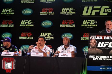 Coletiva do UFC Rio 3, um dos últimos grandes eventos no Brasil.
