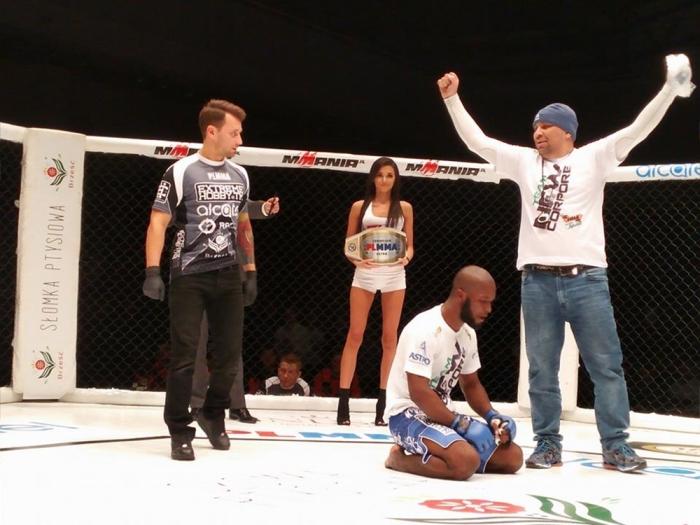 Denilson Trator conquista cinturão do PLMMA. Foto: Divulgação