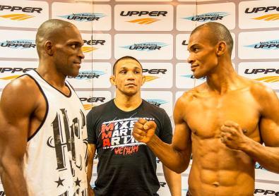 O ex-UFC Walmir Bidu duela com Francivaldo Nego Soares pelos leves. Foto: Felipe Fiorito
