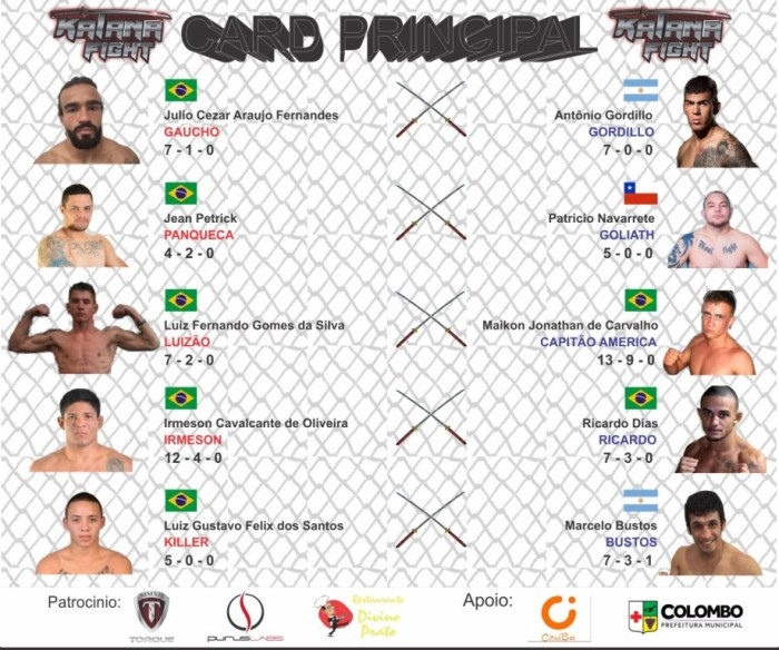Primeiro card do evento.