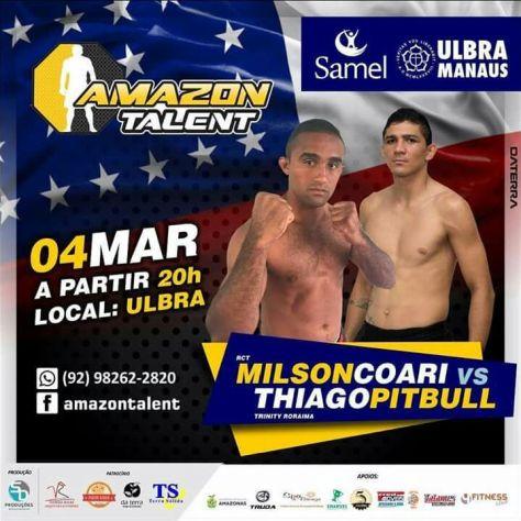 Amazon Talent - Milson Barão de Coari vs Thiago Pitbull de Roraima - Divulgação