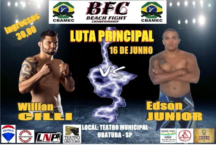 Resultado de imagem para Willian Cilli derrota Edson Junior e conquista cinturão do Beach Fight Championship